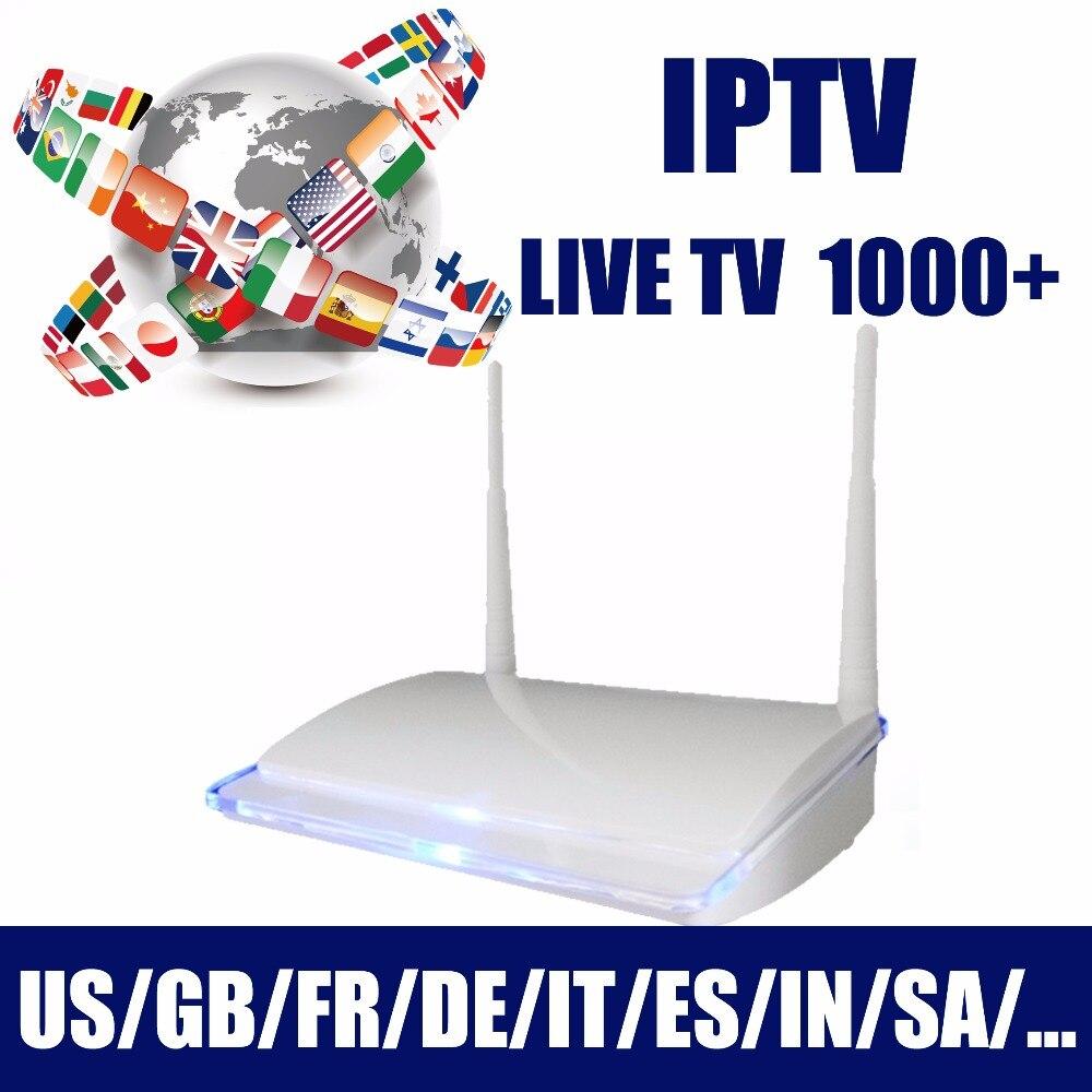 2019 durée de vie gratuite arabe IPTV Box, Android TV box abonnement Tv en direct 1000 +, inde France italie canal pas de frais annuels regarder