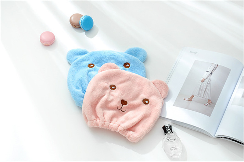 New-Cute-Bear-Bath-Cap-Soft-Microfiber-Hair-Turban-Quickly-Dry-Hair-Hat-Wrapped-Towel-Bathing