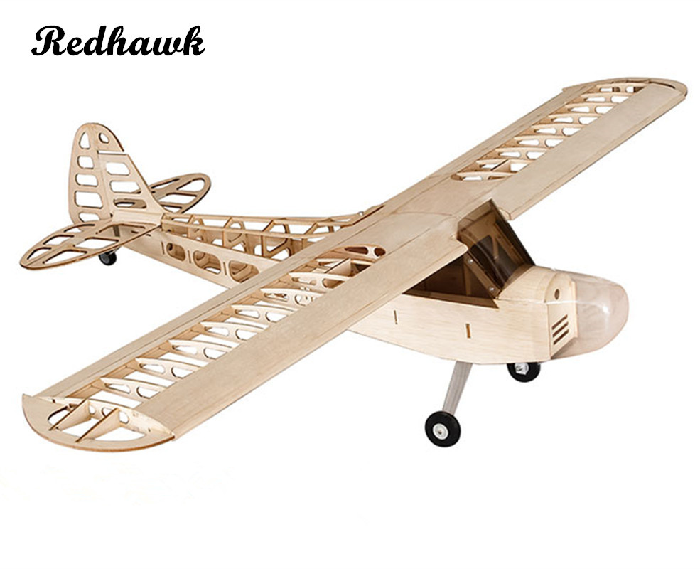 sale retailer 3042c 53862 RC Plane Laser Cut Balsa Wood Airplane Kit New J3 Frame Without Cover  Wingspan 1180mm Free Shipping Model Building Kit