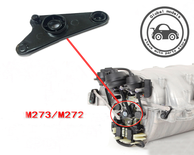 US $16 2 |Aliexpress com : Buy Intake Manifold Air Flap Runner Repair  Intake manifold support for Mercedes Benz M272 M273 W164 ML280 300 320 350  450