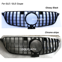 GLE GT R grille front mesh grille Suitbale for Mercedes Benz GLE W166 2015 2016 2017 GLE/GLE gle400 gle450