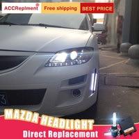 2Pcs LED Headlights For Mazda 3 2006 2012 led car lights Angel eyes xenon HID KIT Fog lights LED Daytime Running Lights