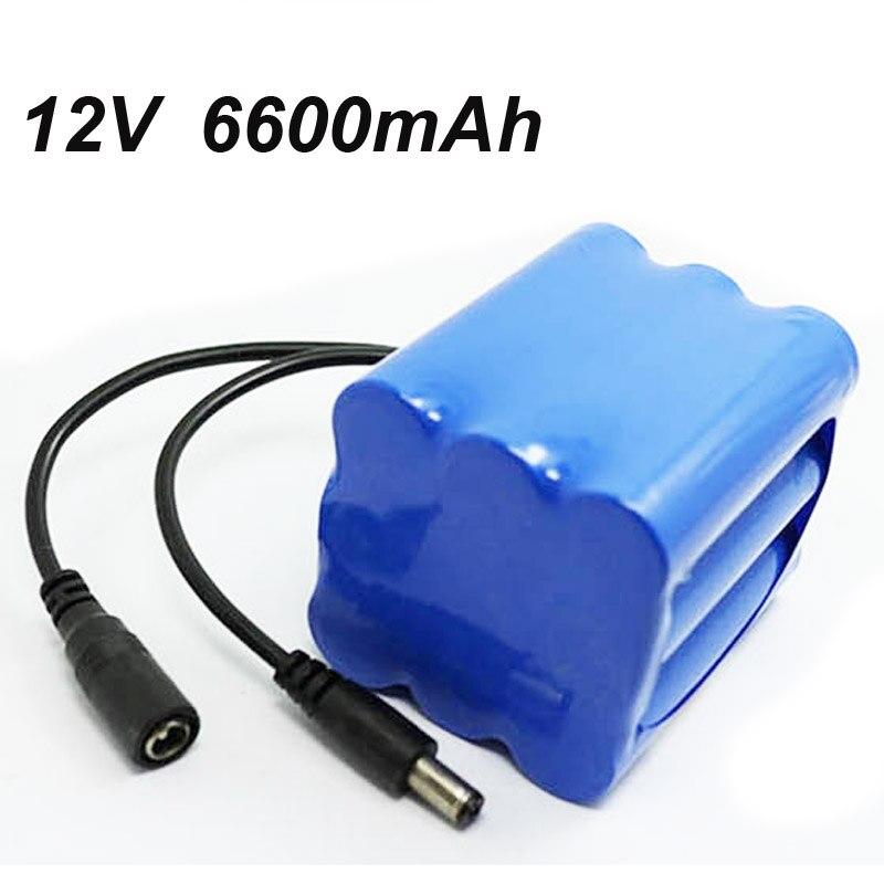 12 v 18650 6600 MAH Li-ion lithium rechargeable batterie pour LED projecteur torche et lampe de poche