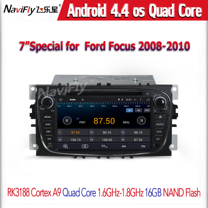 Android4 44 Quad Core car radio cassette for Monde o 2007 2010 Tourneo Connect 2010 Transit