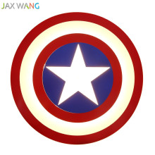 Children Room Led Ceiling Light Marvel American Captain Boy Bedroom Game Room Lamp Decor Light Modern Creative Ceiling Lamp