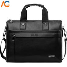 VICUNA POLO Business Solid Color Men Briefcases Luxury Brand Mens Laptop Bag Fashion Large Male Shoulder Bags bolsa masculina fashion brand briefcases 100