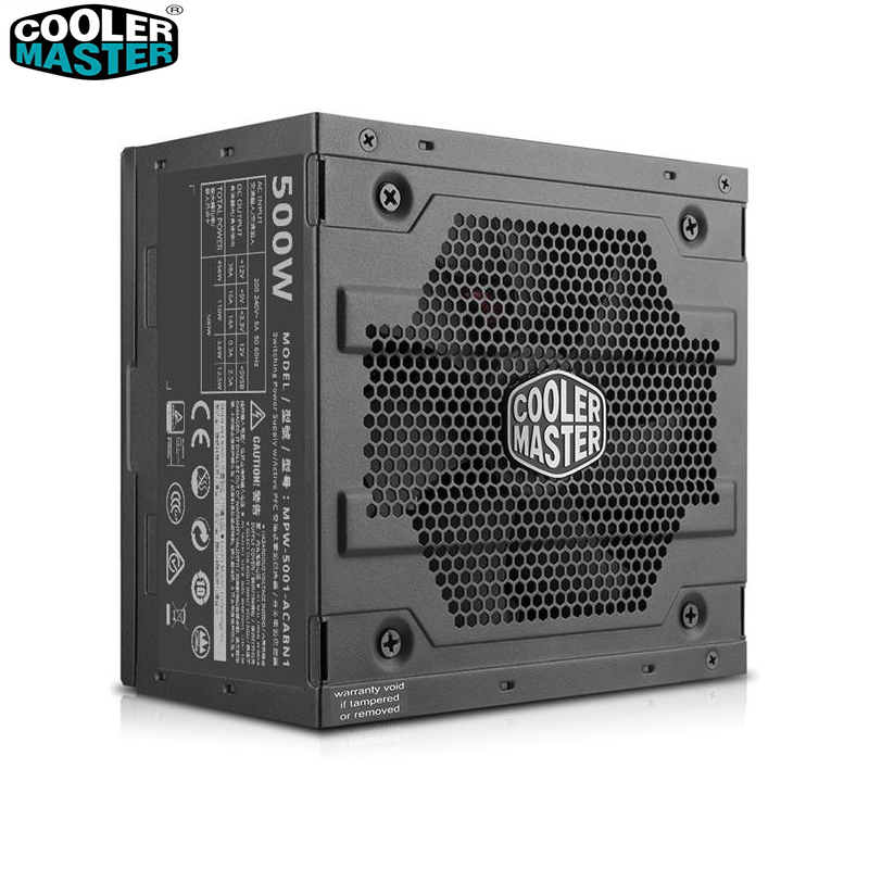 Cooler Master Non-module 500W Computer Power supply Input Voltage 200~240V quiet CCC TUV CE Safety Certification PC PSU desktop computer power supply god 700m game power rated at 550w 12cm fan mute stable module wide voltage