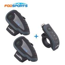 2 V8 font b Intercom b font with 1 Remote Controller V8 interphone Motorcycle Bluetooth Helmet