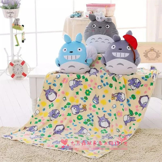 ec6d4c5994 kawaii Totoro Baby Blanket Kids Cartoon Plush Towel Air Condition Sleep  Cover bedding Blankets Super Soft Flannel Flano