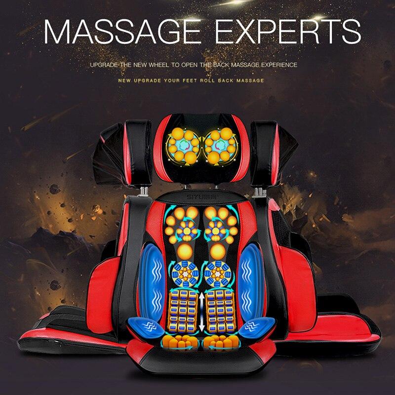 Silla de masaje almohadilla cervical Dispositivo de masaje cuello almohadilla de masaje multifuncional de hogar almohada cojín de cuerpo completo - 6