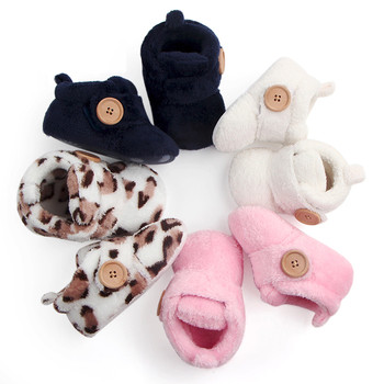 Lovely Hookloop Design Boy Girls Toddler First Walkers Baby Shoes Round Toe Flats Soft Slippers Shoes winter Baby Warm Shoes 1