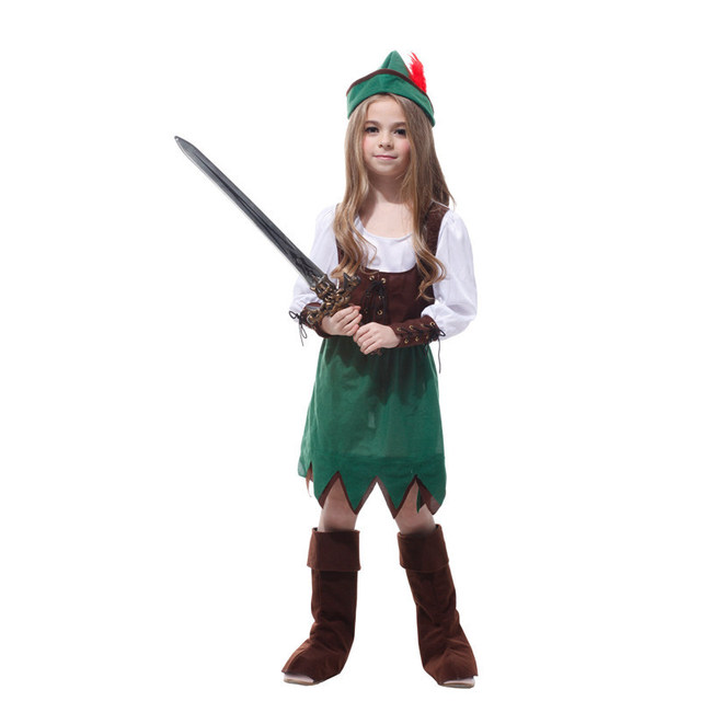 2e05a13868a Tower Girls Deluxe Peter Pan Cosplay Costume Child Hat