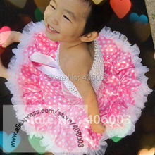 free shipping satin tutu baby girls  pink white christmas pettiskirt for Kids