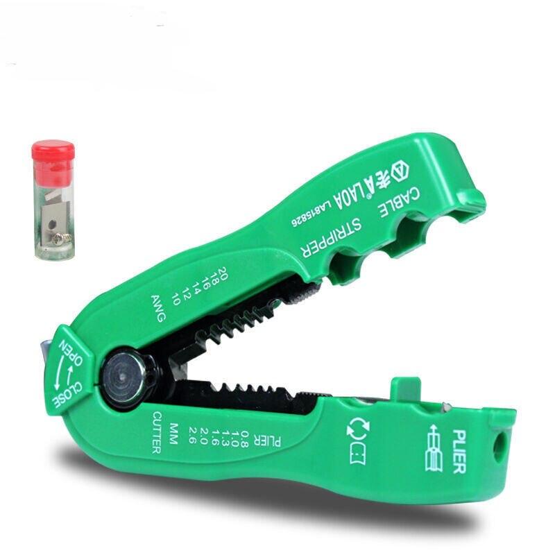 LAOA multifunción cortador de alambre línea de cable stripper pelacables herramienta de crimpado mini portátil de mano herramientas 0.8-2.6mm LA815826