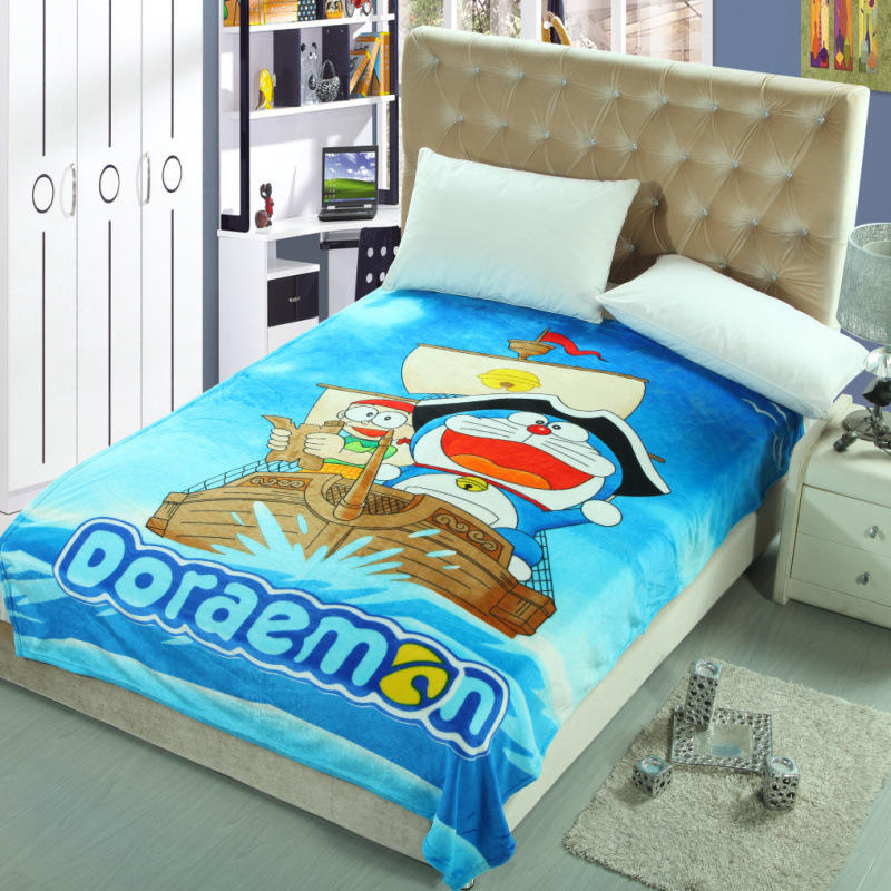 Queen Size 150x200cm Doraemon Fleece Blanket Cartoon Super Man Avengers Blankets Throw Blanket on The Bed/Sofa/Car Free Shipping