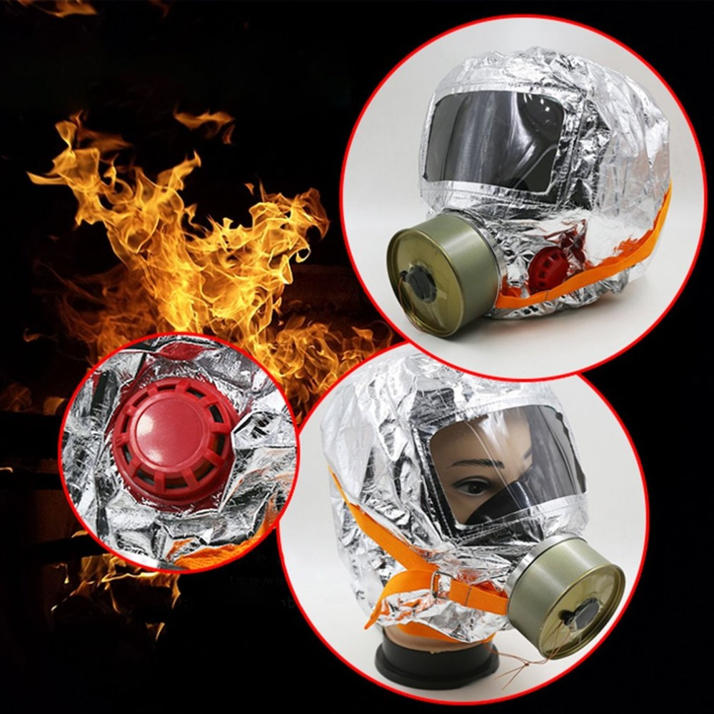 TZL30 Smoke Prevention Home Fire Escape Mask Filter Type Fire Self-rescue Breathing Apparatus Respirator Gas Mask ...