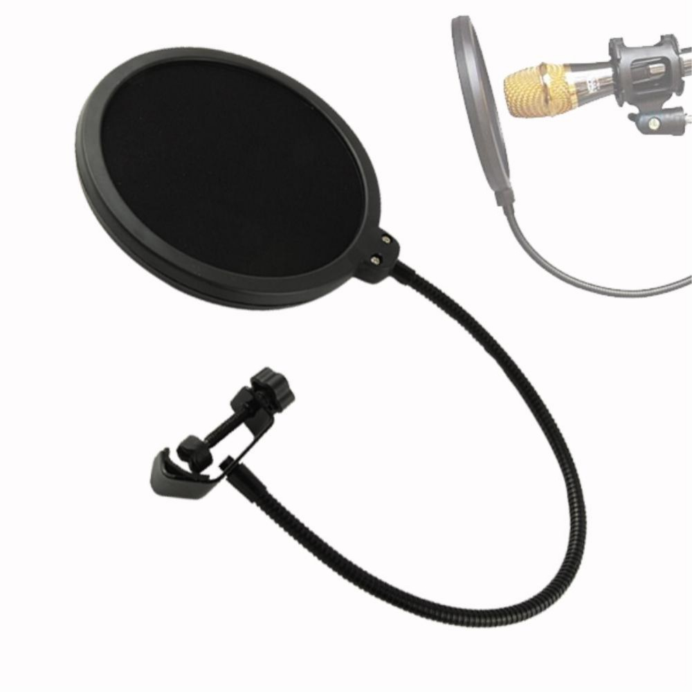 mindkoo double layer studio microphone mic wind screen pop filter swivel mount mask shied for. Black Bedroom Furniture Sets. Home Design Ideas