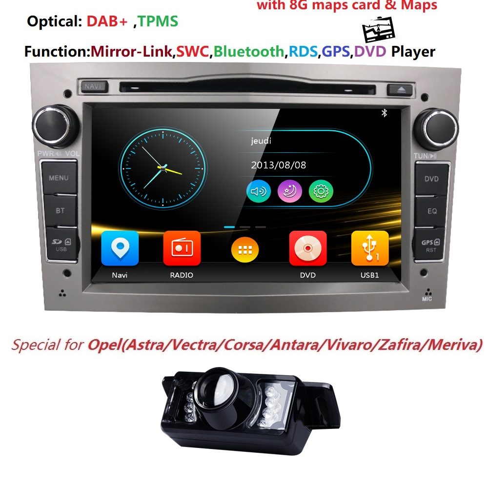 AutoRadio 2Din Car DVD Multimedia Player Fit Opel Vectra C b Corsa D Astra H Vivaro corsa c d zafira b Meriva AntaraAudio RDSDAB