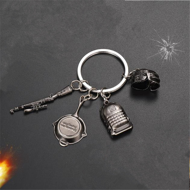La MaxPa Games PUBG3 Helmet Backpack Pan 98K Keychain Jedi Survival Classic Mini