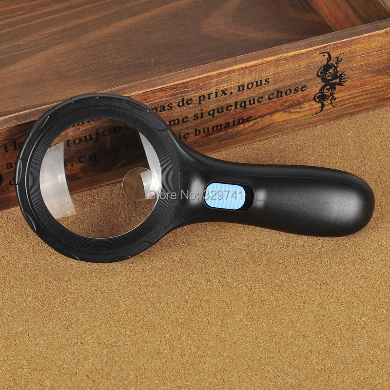 3X75mm 8X20mm 10 LED Potable Hand Hold Magnifier Glass Loupe Reading Magnifying Glass