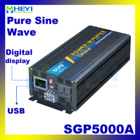 New Smart Series Pure Sine Wave Inverter 5000W With USB Input 12VDC 24VDC 48VDC Output 110VAC