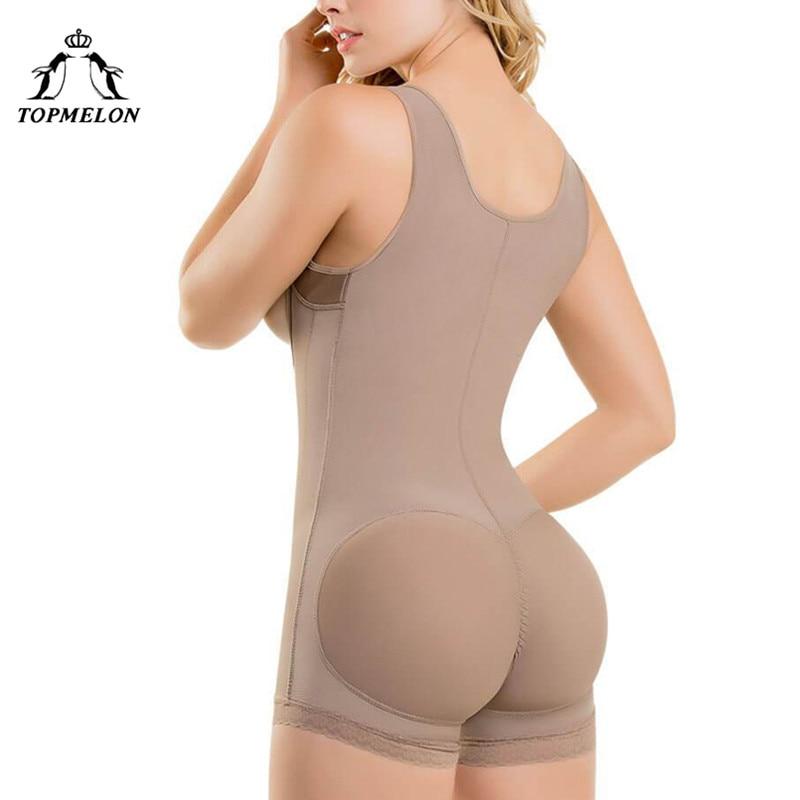 TOPMELON Zipper Shapewear Plus Size S 6XL Womens Wide Strap Slimming Body Shaper Black Beige Grey Bodysuit in Bodysuits from Underwear Sleepwears