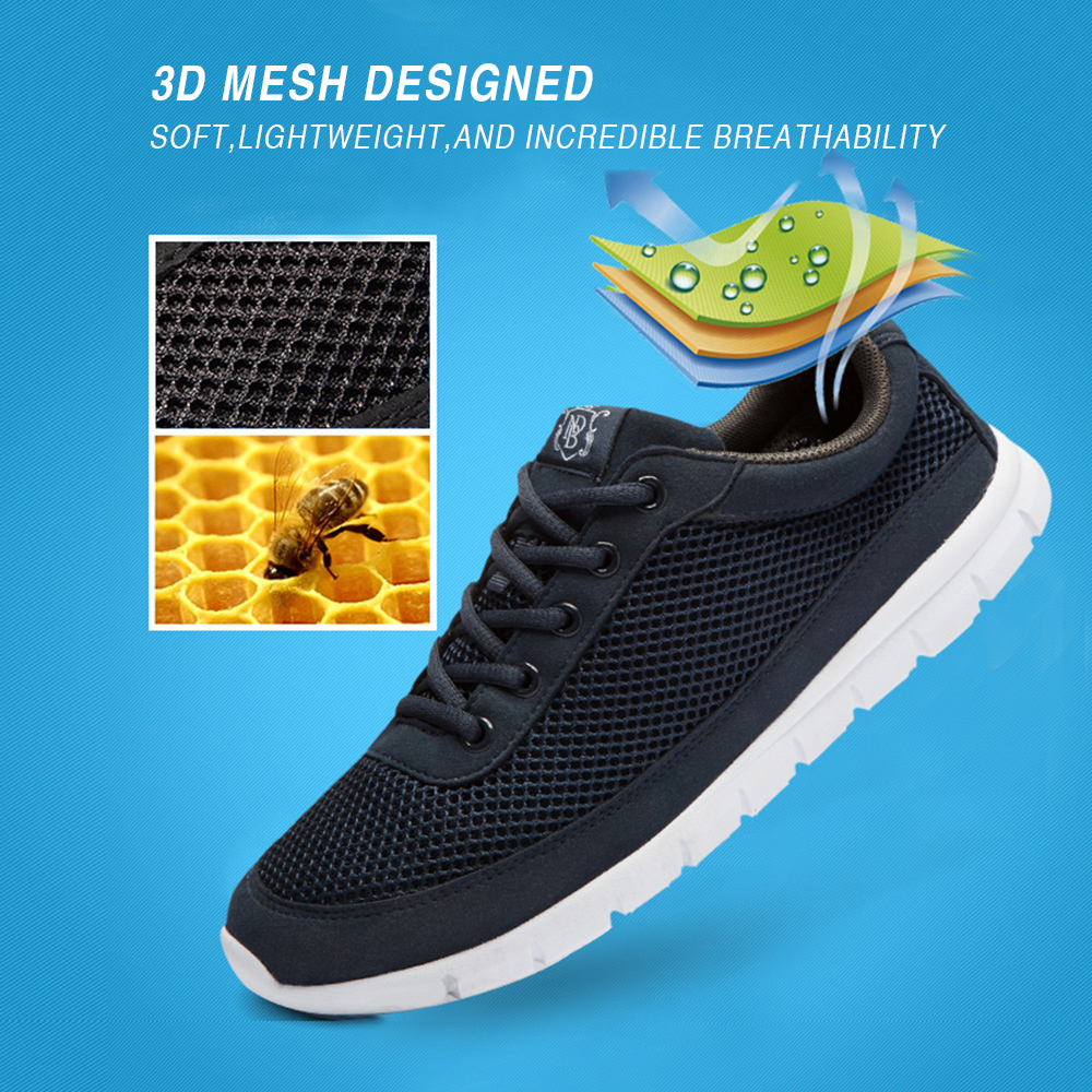 Brand Shoes Men Casual Breathable Lace-Up Walking Footwear - Men's Shoes - Photo 5