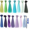 1pcs hair refires bjd hair 15cm*100CM blue green purple color short straight wig hair for 1/3 1/4 BJD diy