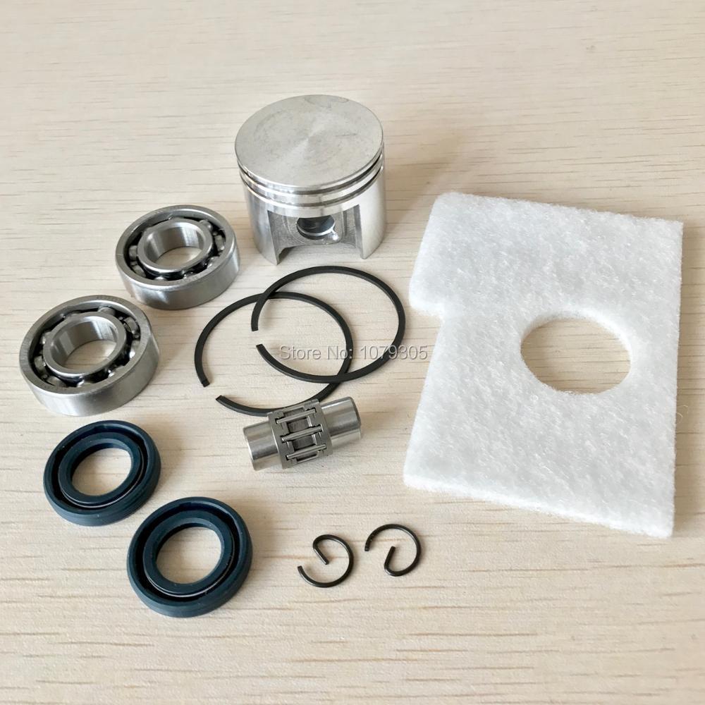 38mm Spinotto pistone Anelli Kit/Albero Motore Cuscinetto Paraolio Kit/Kit Guarnizione Per STIHL 018 Motosega MS180 parti
