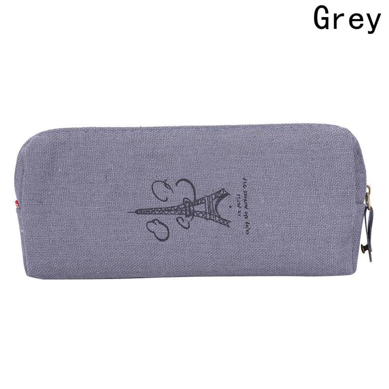 Zipper Bag Fashion Cute Vintage 1PC Hot Sale Purse Handbags Pen Case Coin Pouch Canvas Paris Pencil Cosmetic Makeup