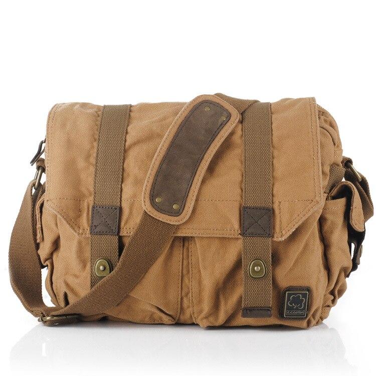 Messenger Bags Single Canvas Shoulder Bag Men Women Canvas Fashion Vintage String Messenger Bag Casual Travel Men Women messenger bag