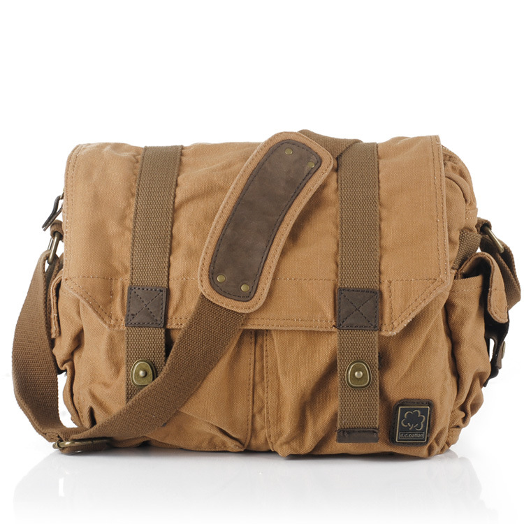 купить Messenger Bags Single Canvas Shoulder Bag Men Women Canvas Fashion Vintage String Messenger Bag Casual Travel Men Women по цене 2300.36 рублей