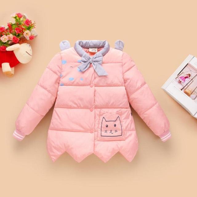 77280419a Baby Girls Autumn Winter Warm Minnie Jackets Coats Children Kids ...