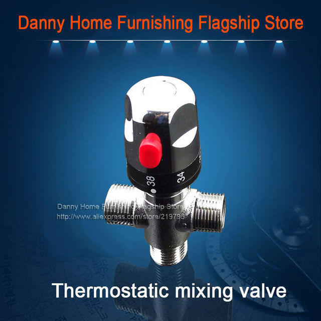 Free Shipping Brass thermostatic valve, temperature mixing valve ...
