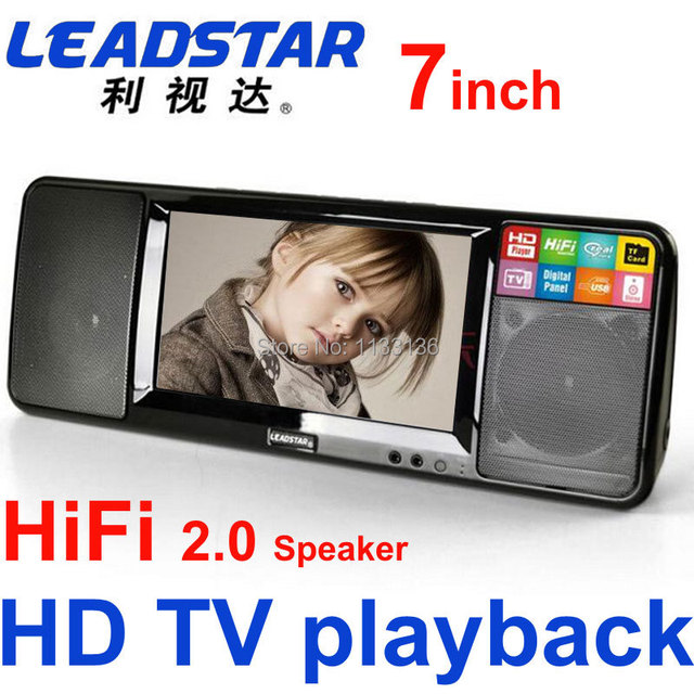 2016 New HD portable video player Mini TV FM radio U disk read card bedroom hifi audio support TF card, film music