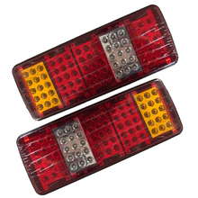 купить 1 Pair 75 LED Car Tail light Stop Brake Plastic lights Truck Van Trailer Reverse Lamp 12V 24V DC дешево
