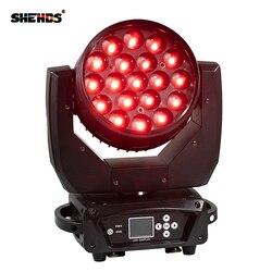 2 шт./лот LED Moving Head 19x15 Вт RGBW Wash/Zoom сценический свет профессиональный DJ/бар LED сценическая машина DMX512 LED Zoom Beam