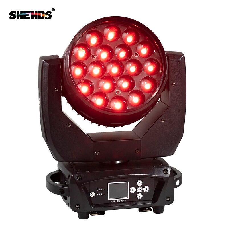 2 قطعة/الوحدة LED تتحرك رئيس 19x15 واط RGBW غسل/التكبير ضوء المرحلة المهنية DJ/بار LED المرحلة آلة DMX512 LED التكبير شعاع