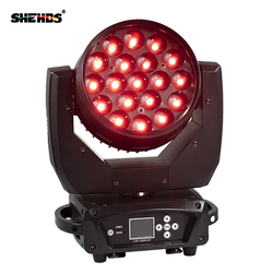 2pcs/lot LED Moving Head 19x15W RGBW Wash/Zoom Stage Light Professional DJ/Bar LED Stage Machine DMX512 LED Zoom Beam