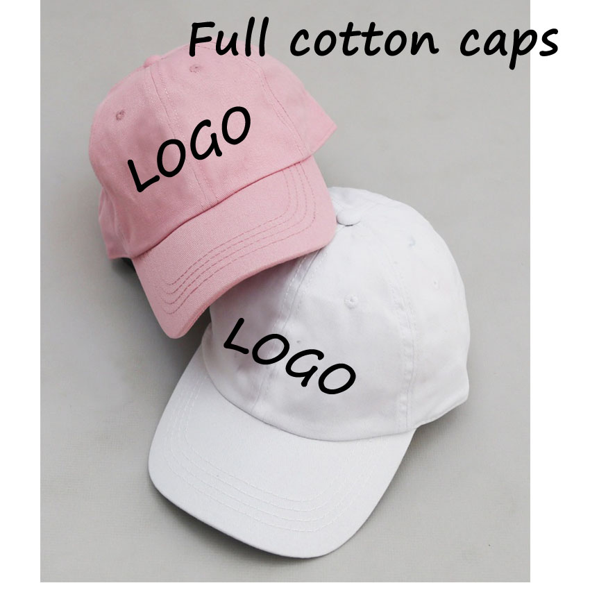 cotton adult customized font baseball caps soft brim front