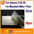 20pcs 250um For iphone 5 5g 5s 5gs oca film for Mitsubishi Mitsu Rohs OCA Optical Clear Adhesive Free shipping