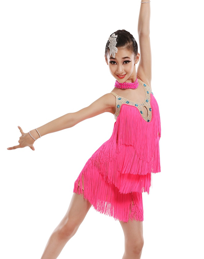New style latin dance costume sexy diamond tassel latin dance dress for women latin dance competition dress
