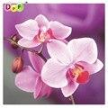 Hecho a mano de costura diy diamond kit pintura diamond bordado completo planta rhinestone Rosa orquídea pintura diamante de punto de cruz