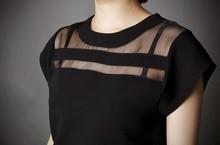 Black Chiffon Summer Shirt