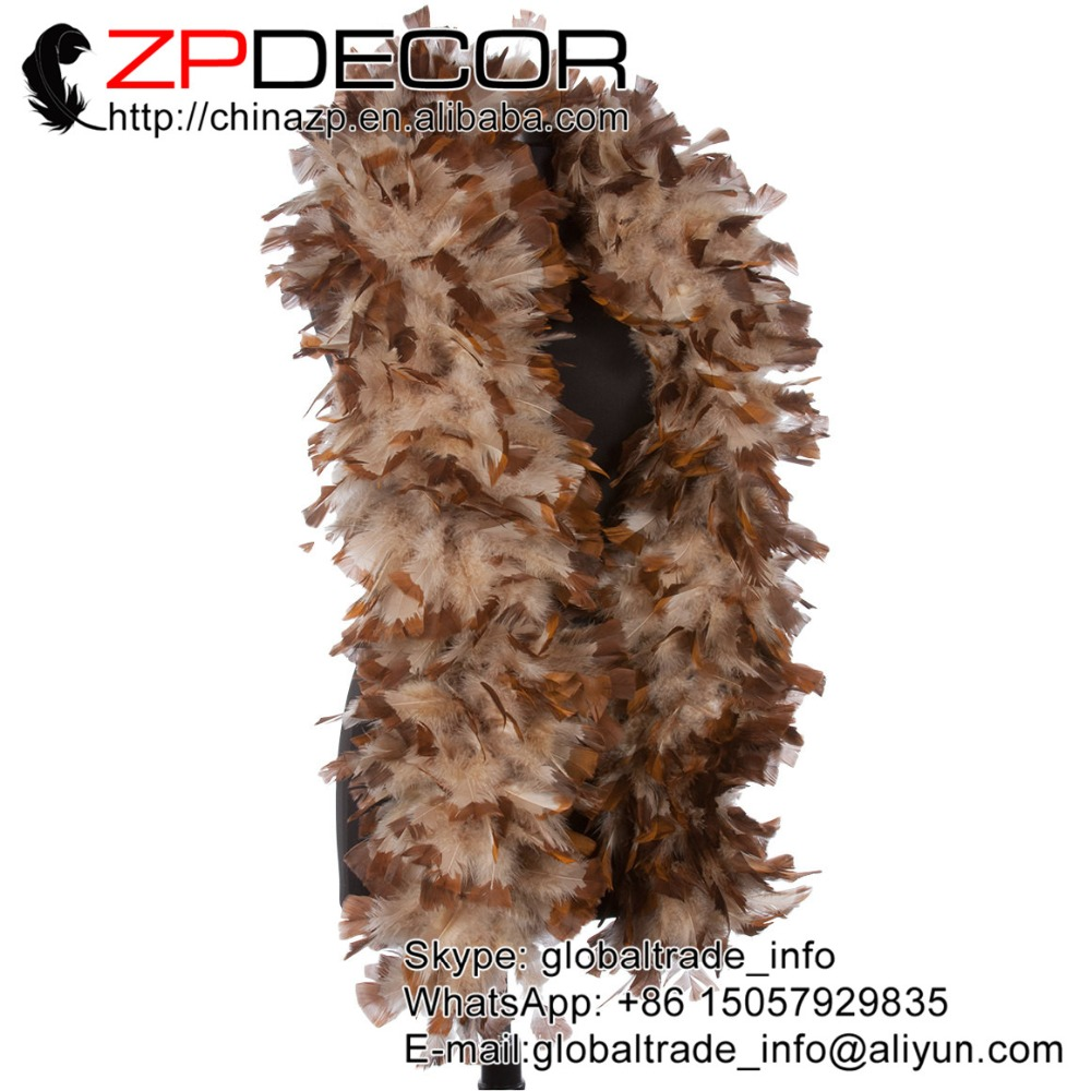 4x ostrich feather boa Red With Black Tips