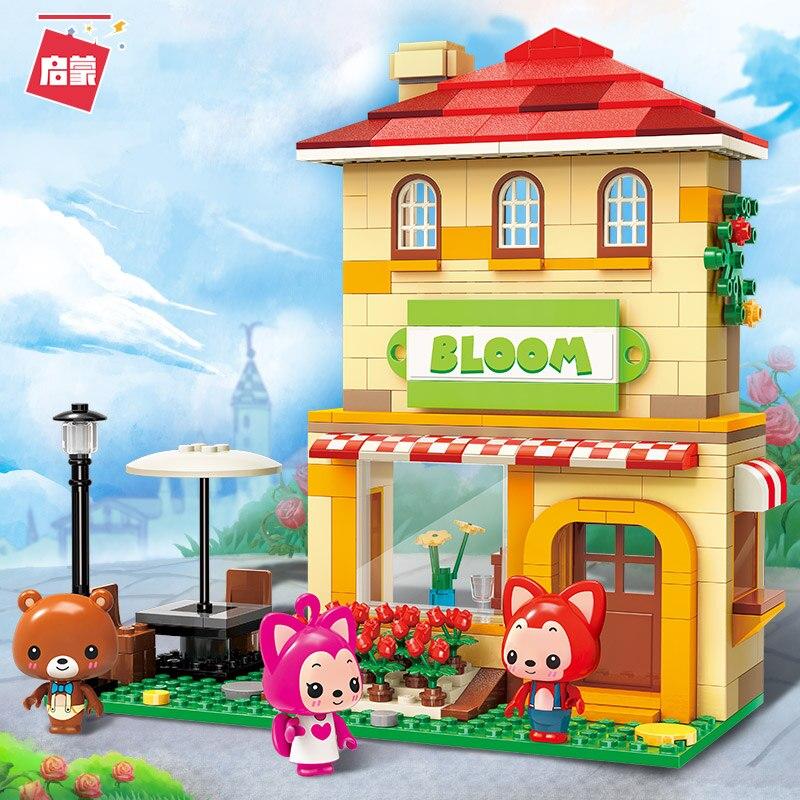 Ali The Fox Cartoon Building Blocks Sets Ideas Doll Figure Bricks Classic Bus Merry go round Blocks Toy in Blocks from Toys Hobbies
