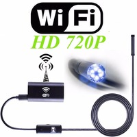 R N HD720P 8mm Lens WIFI Endoscope Camera 5M 3 5M 2M 1M Snake USB Iphone