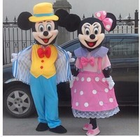2Pcs/Hot mouse Mascot Costumes minnie mouse mascot Costumes Adult size Cartoon thanks Halloween Carnival Costume