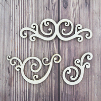 Happymems Lace Wood Shapes 150pcs Laser Cut Wood Crafts Embellishments DIY Home Wedding Party Decoration Wooden shape