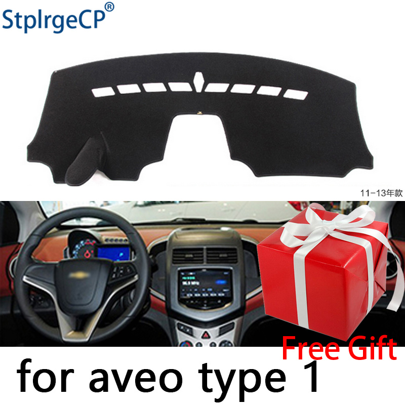 for Chevrolet Aveo Sonic 2012-2016 dashboard mat Protective pad Shade Cushion Pad interior sticker car styling accessories